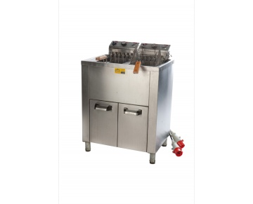 Friteuse electr. 2x15L (staand)